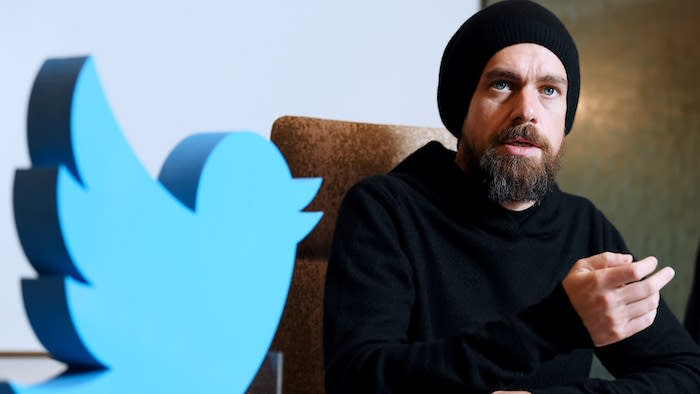 photo de jack dorsey et logo twitter pour son interview sur l'option de modification de tweets à venir dans technews