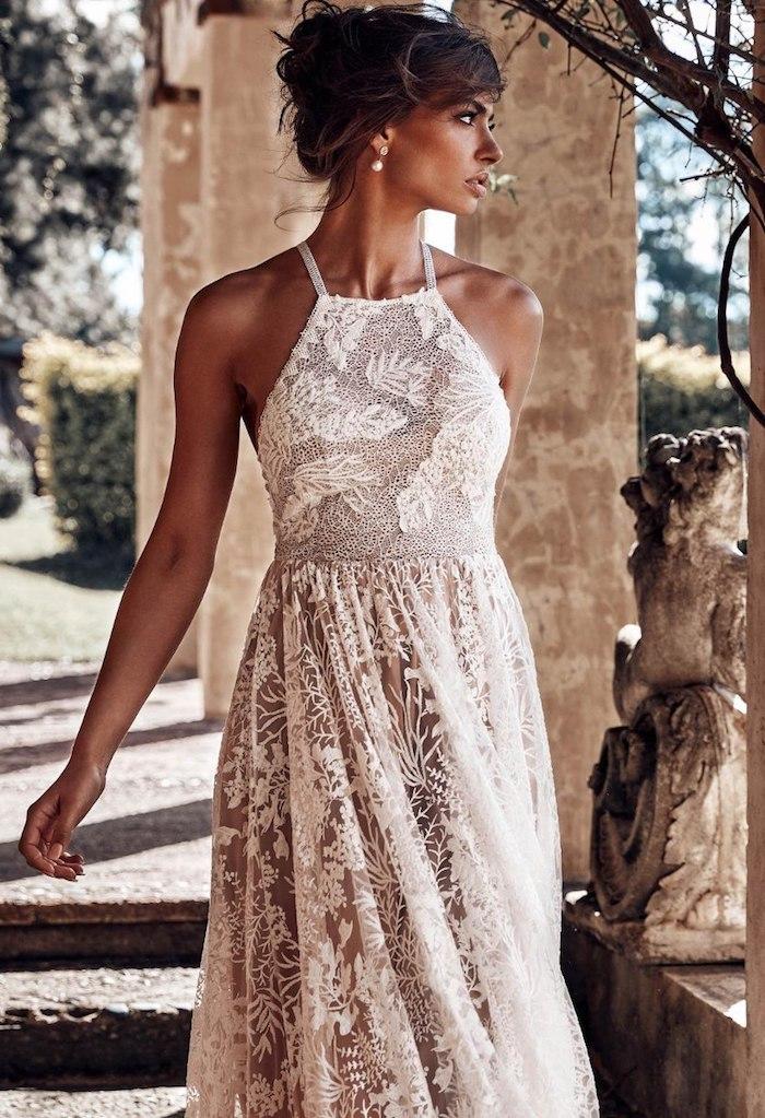 Beauté féminine, robe noire dentelle, robe dentelle soirée, tenue boheme chic, robe de mariée magnifique