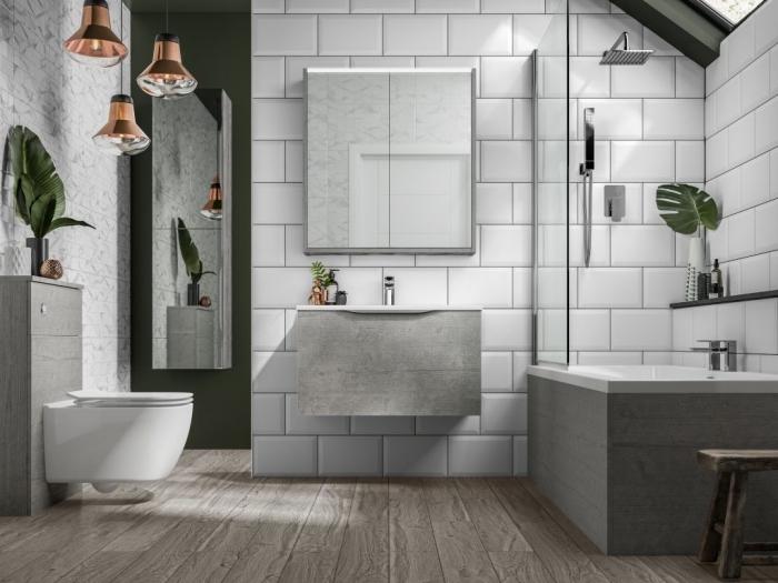 pinterest salle de bain style moderne, design intérieur tendance contemporaine avec accessoires de style industriel