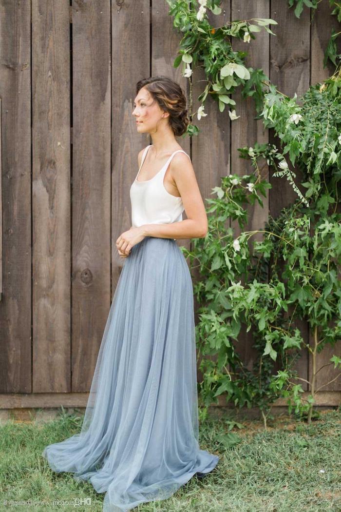 Robe boheme longue, adopter le style hippie chic pour l été, robe demoiselle d'honneur mariage champetre