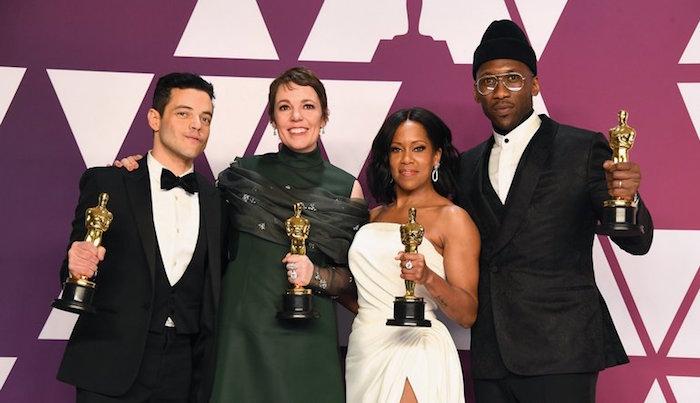 Photos des principaux gagnants de la cérémonie des Oscars 2019 avec Rami Malek Olivia Colman Mahershala Ali et Regina King