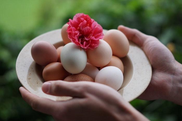 Célébrer la fête des paques, bon week end de paques, belles images de paques, oeufs et fleur en top pour décoration