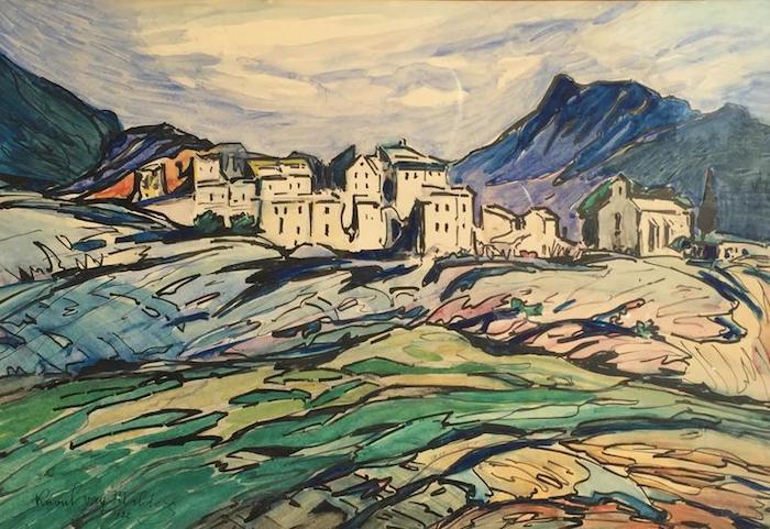 Paysage coloré dessiner un paysage, cool idée quoi dessiner aujourd hui