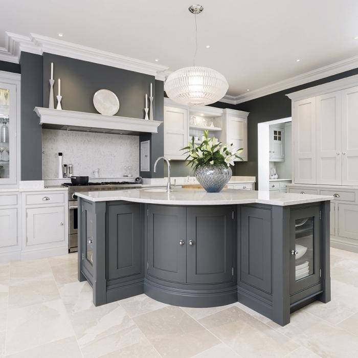 la cuisine blanche et grise dans toute sa splendeur nos. Black Bedroom Furniture Sets. Home Design Ideas