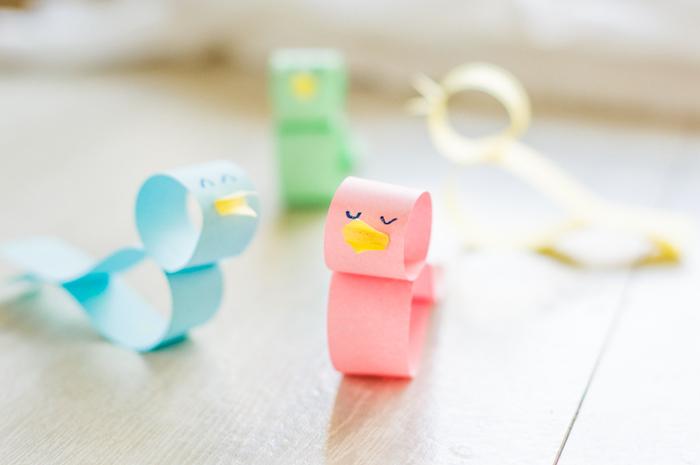 poussins en papier simples, printemps maternelle activités faciles et rapides pour enfants, bricolage de paques