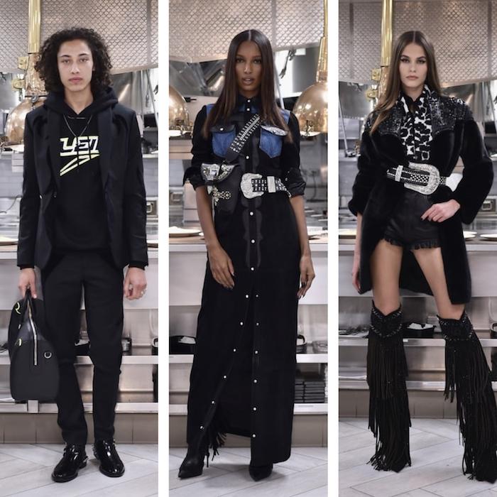 collage de phtos de défilé Philipp Plein à la fashion de New York après arnaque d'un faux concert de Kanye West à 900 000$
