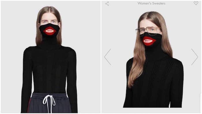 image du pull Gucci à col roulé type blackface qui fait polémique et prise de position de Dapper Dan
