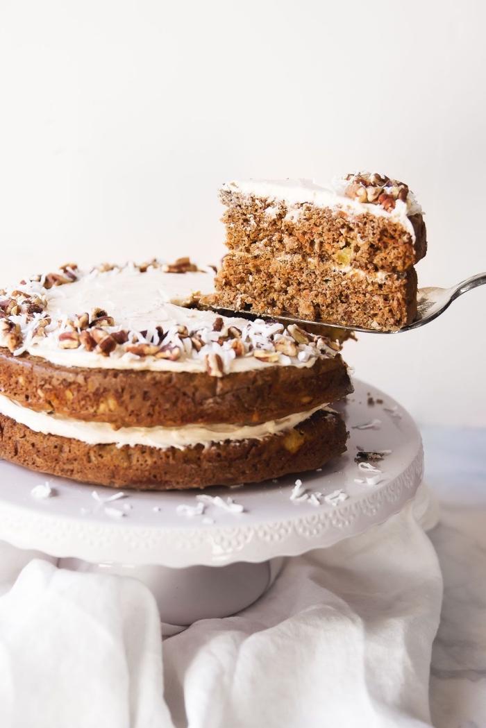 idée de gateau de paques facile et rapide qui peut se préparer en toute occasion, recette sans gluten de gâteau aux carottes moelleux