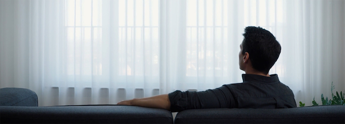 Capture écran vidéo présentation promotion des nouveaux rideaux Ikea Gunrid dépolluants