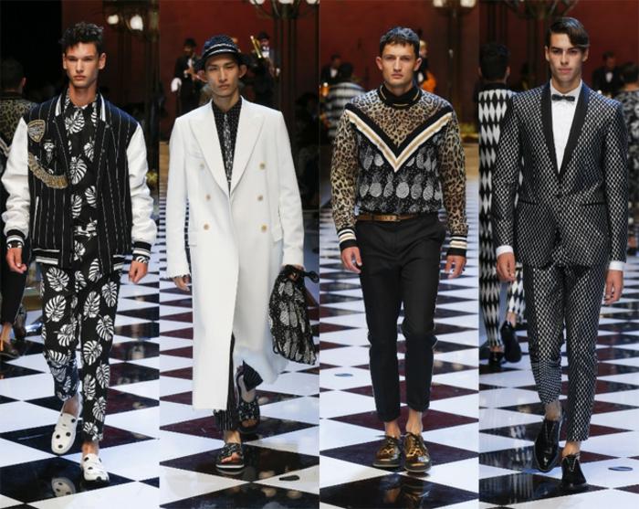 exemple tendance de mode homme extravagant, costume gris et noir avec chemise blanche, accessoires pour look chic décontracté