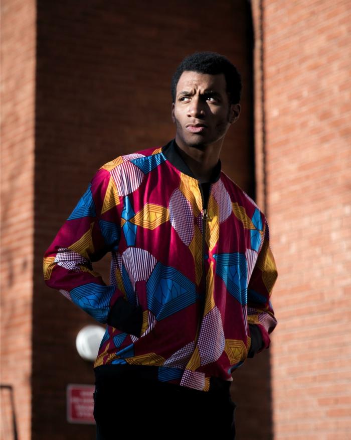 tenue pour homme à inspiration africaine, veste wax homme, tenue casuelle homme