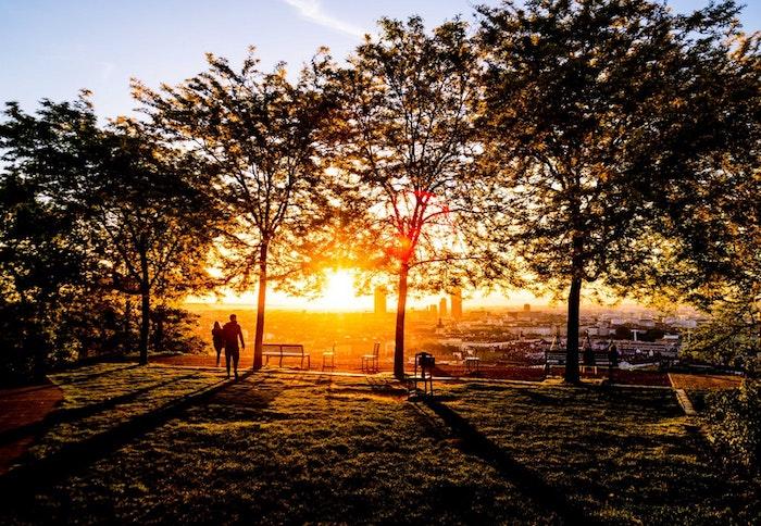 Coucher de soleil à San Francisco, fond d'écran paysage, beau paysage urbain, image à télécharger