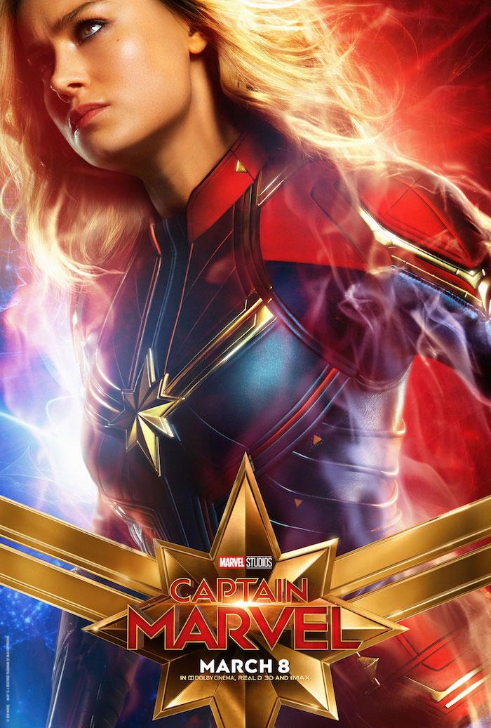 affiche film Captain Marvel avec brie larson et réalisé par anna boden est le meilleur démarrage de l'histoire marvel