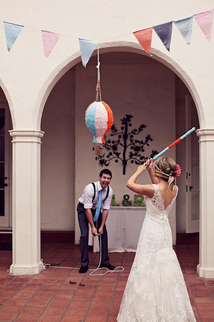 Piñata mariage couple amoureux, idée animation mariage temoin, jeux mariage, faire quelque chose d'original
