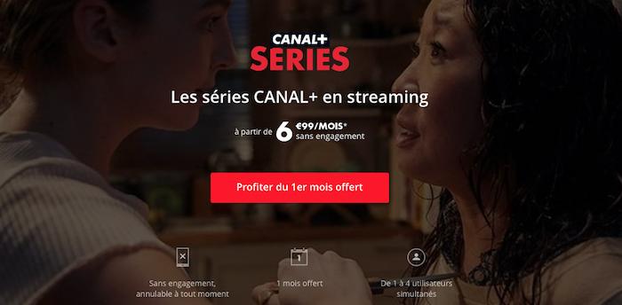 capture offre plateforme vod Canal + Séries Plus Vernon Subutex Twin Peaks Engrenages à 6,99 euros
