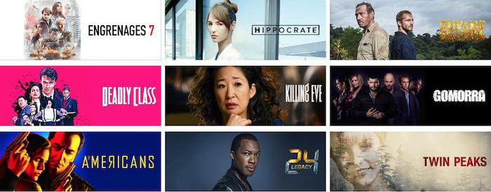 capture offre plateforme vod Canal + Séries 6,99 euros avec séries Gomorra saison 4 Vernon Subutex Twin Peaks et Engrenages