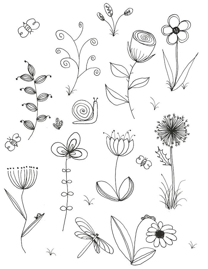 Mignons dessins de fleurs petit coloriage fleur dessin facile a faire etape par etape