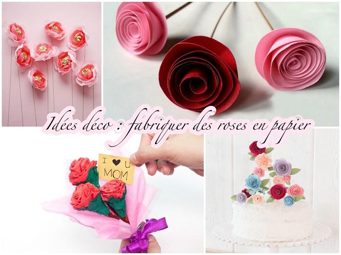 des créations florales délicates réalisées en papier, comment faire une rose en papier facile