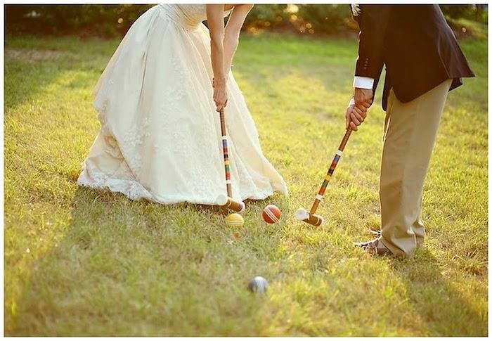 Croquet mariage jeu d'extérieur, idée surprise mariage, idée animation mariage témoin