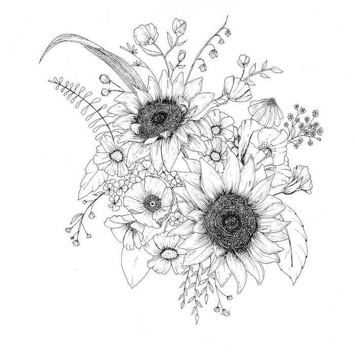 Le dessin de fleur \u2013 astuces et idées pour apprendre comment dessiner une  fleur