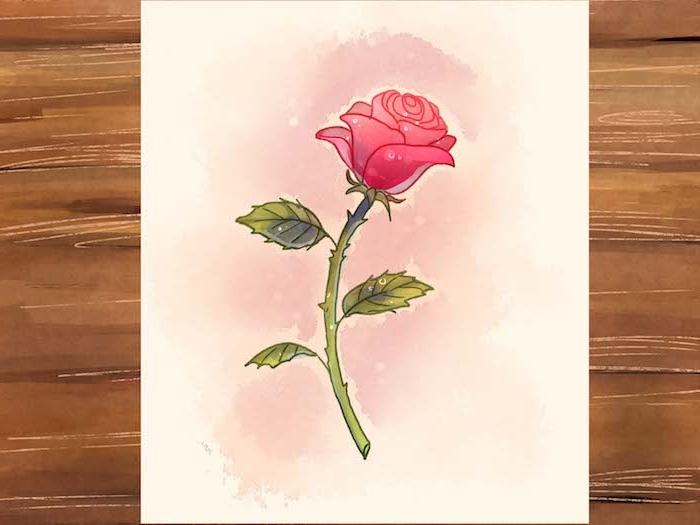 1001 images de dessin de fleur pour apprendre dessiner - Rose a dessiner facilement ...
