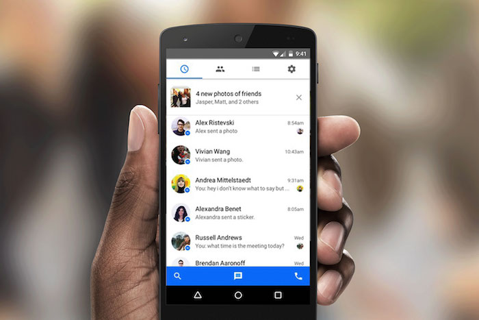 photo de Messenger piraté via Chrome afin d'accéder aux contacts et discussions