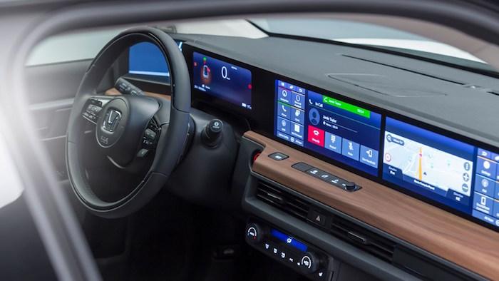 image habitacle intérieur de la concept car Honda E Prototype électrique présentée à Genève au salon de l'auto