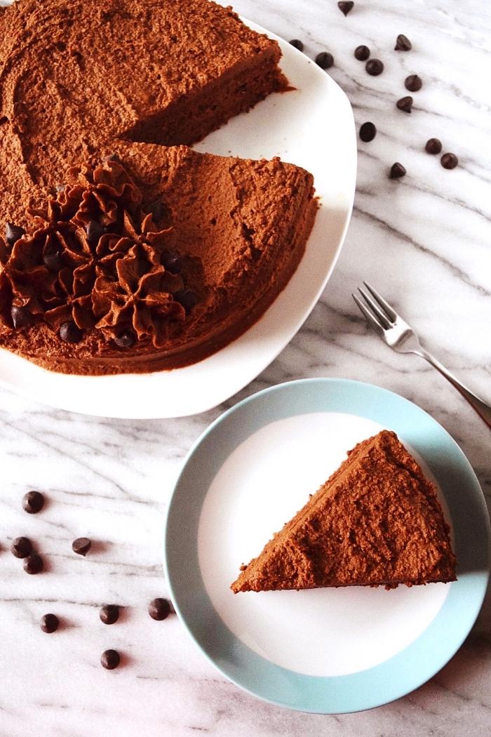 recette de gâteau au chocolat sans gluten et sans lactose, idée de dessert pour un menu sans gluten aussi sain que gourmand