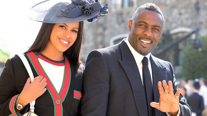 Idris Elba et sa femme SAbrina à leur arrivée au mariage princier d'Harry et Meghan pour lequel il a officié en tant que dj
