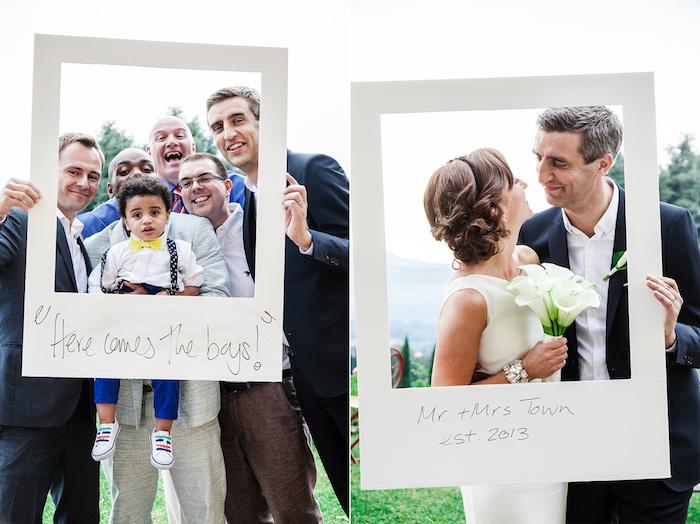 Photo booth original comme photo polaroid, idée d'animation mariage, jeux soirée, magnifique idée pour une soirée