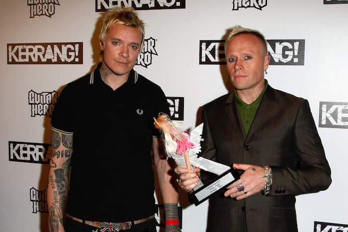 photo de liam hawlett et keith flint de the prodigy lors d'une remise de prix kerrang avant son décès par suicide