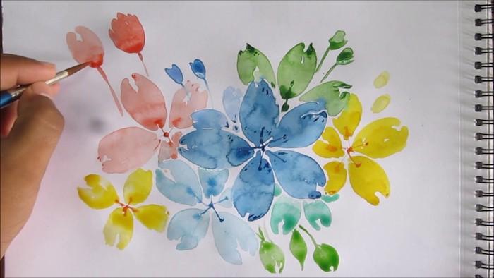 Aquarelle dessin de fleurs, dessiner une fleur en aquarelle, le plus beau dessin du monde