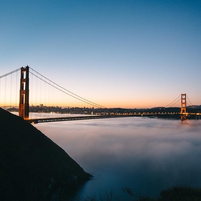 San Francisco photo Golden Gate bridge au coucher de soleil, paysage magnifique, fond d'écran paysage au coucher de soleil