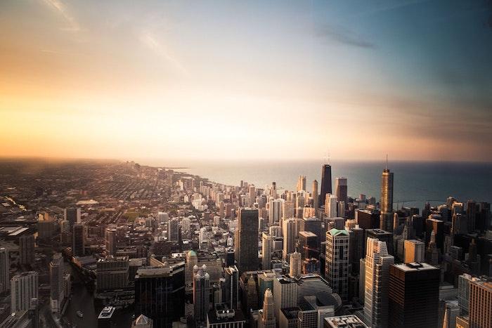 Coucher de Soleil California, idée de dessin paysage d'une photo, fond d'écran paysage californien ville