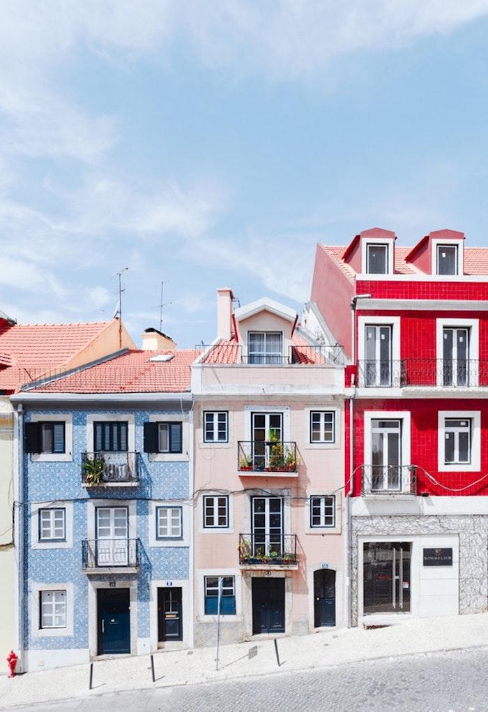 Lisbonne fond d'écran paysage maisons colorés, les plus belles villes du monde, photographie urbaine