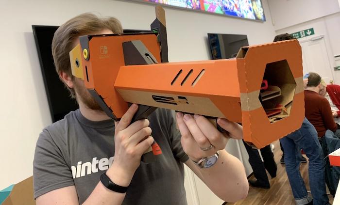 le kit VR labo pour Nintendo Switch permet de créer différents éléments en carton selon les jeux choisis