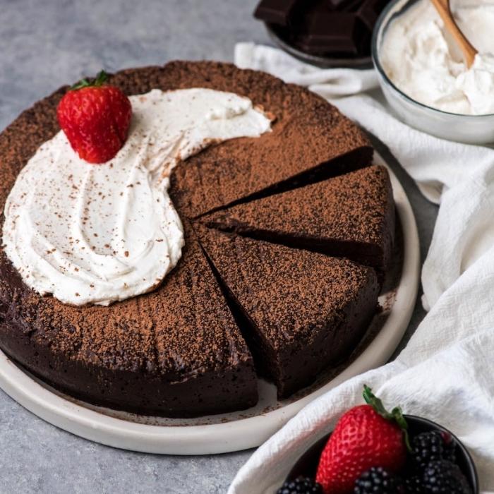 recette facile de gateau au chocolat sans farine à base de quelques ingrédients simples