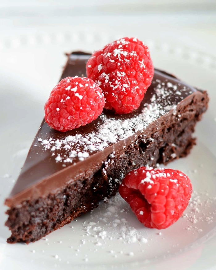 recette facile et rapide de gateau au chocolat sans farine, fondant sans gluten avec ganache au chocolat