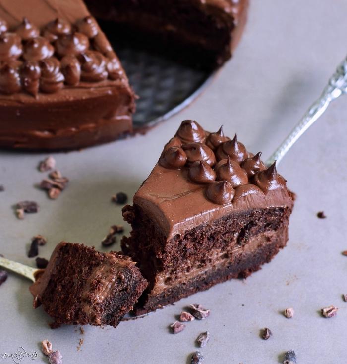 recette healthy et vegan de gateau au chocolat rapide, gâteau aux chocolat à la courgette sans beurre et sans gluten