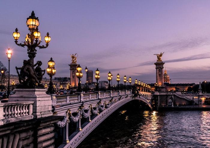 Paris paysage d'hiver, photo paysage urbain, comment décorer son desktop, rivière et pont à Paris