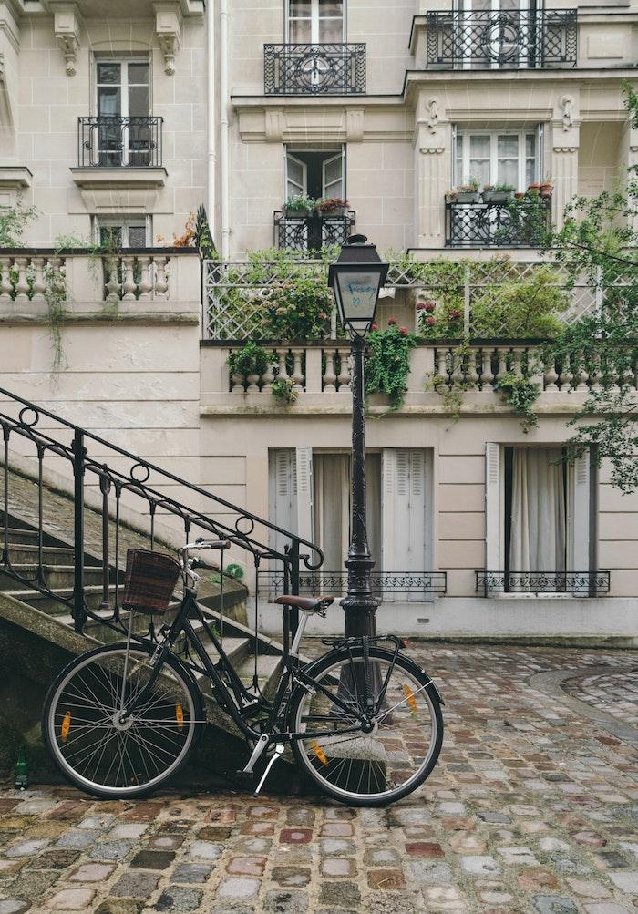Bicyclette photographie à Paris image de paysage, le plus beau paysage ville pour arrière plan