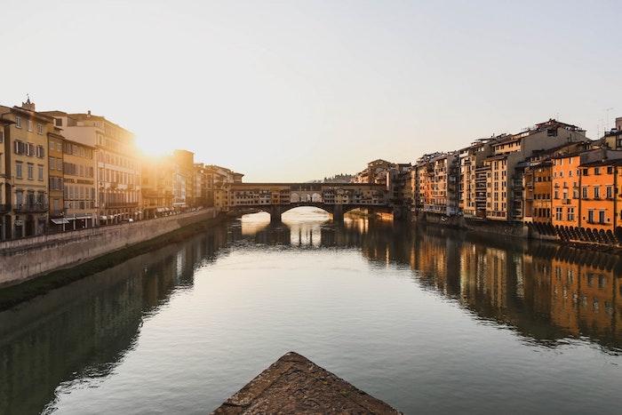 Florence Italie paysage Ponte Veccio, Europe paysage, les plus beaux paysages urbains, paysage ville ensoleillée
