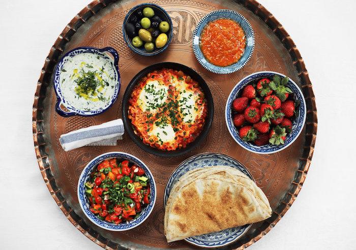 Les différentes entrées simples et raffinées, apero dinatoire original arabe style pan et fromage