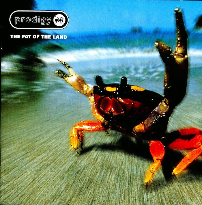 pochette de l'album The Fat Of The Land du groupe The Prodigy dont le chanteur Keith Flint est mort par suicide à l'age de 49 ans