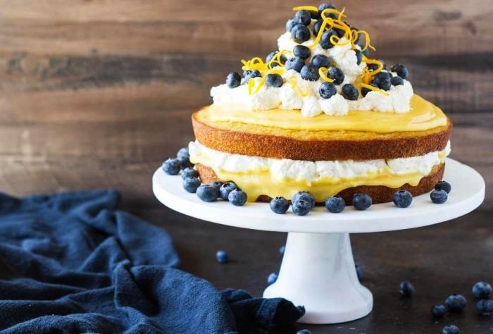 recettes sans gluten de pâtisserie aussi saine que gourmande, gâteau vanille à la farine de noix de coco et à la crème de citron