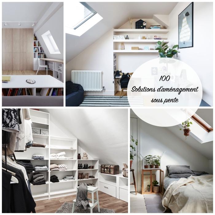 comment meubler l'espace sous combles, solutions d'aménagement sous pente pour chaque pièce de la maison
