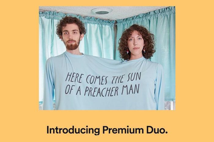 Spotify vient de lancer en guise de test la nouvelle offre Premium Duo pour les couples à 12,29 euros