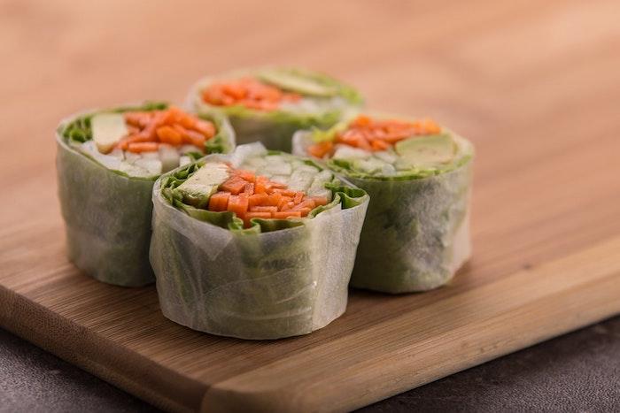 Le meilleur repas de fete, idée repas anniversaire, manger bouger, sushi végétarien