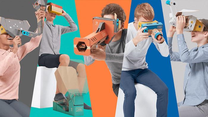 Le nouveau kit Nintendo VR labo pour console Switch est un système de réalité virtuelle en carton