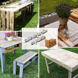 Magnifier son extérieur avec une table de jardin en palette - 60 idées DIY faciles